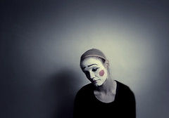 Lonely (holliemc) Tags: portrait sad clown makeup lonely sadclown clownmakeup