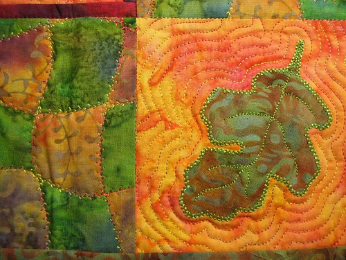 fall swap quilt made by Hazel