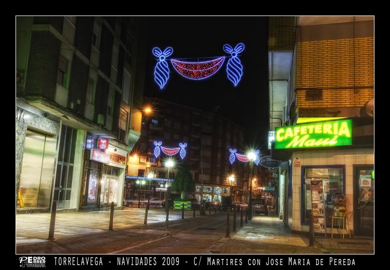 Torrelavega - Calle Mártires - Navidades 2009