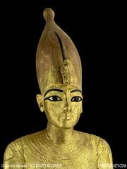 Closeup of King Tut's Ritual Figure, wearing a tall crown. (Sandro Vannini) Tags: art kingtut egypt raft papyrus panther tutankhamun beliefs egyptians egyptianmuseum kv62 howardcarter heritagekey sandrovannini funeraryprocess ritualfigures