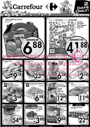 27 - 28 Jan Carrefour sale