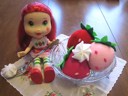 Strawberry Shortcake enjoys sweets