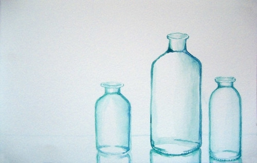 Recycled glass bottles by Luke Dwyer