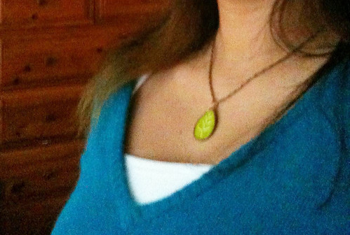 "My Very Own KnitKnit ""Little Leaf"" necklace!"