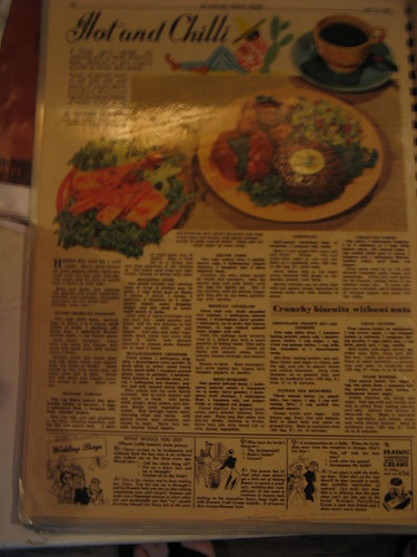 1940s Aussie women's mag:  Mexican burgers? really?