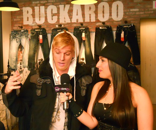 Aaron Carter Pre Grammy Press Junket - Buckaroo Jeans Sponsor