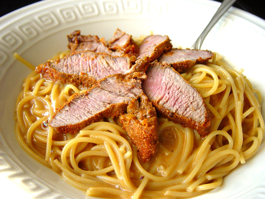 Peanut Noodles with Steak
