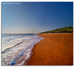 Infinity (DanielKHC) Tags: digital blending danielkhc explore frontpage india kerala trivandrum thiruvananthapuram kaniyapuram beach sea sand palms infinity nikon d300 tokina1116mmf28 danielcheong perspective seascape shoreline 39 fp interestingness hdr high dynamic range