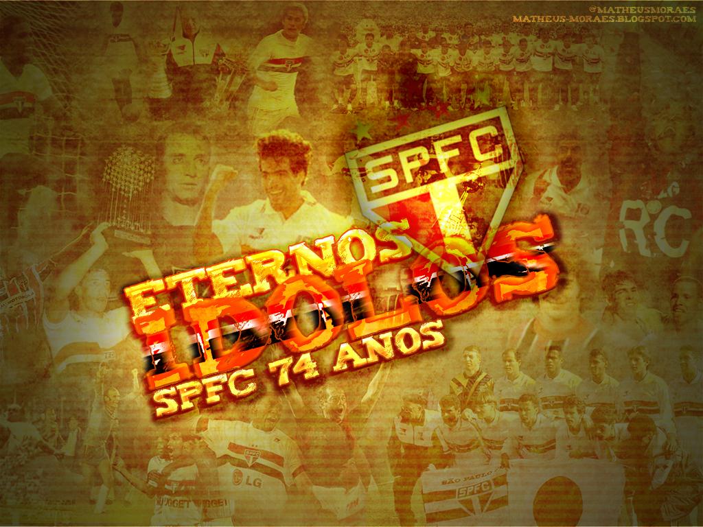Wallpaper SPFC Eternos Idolos - 1024x768px
