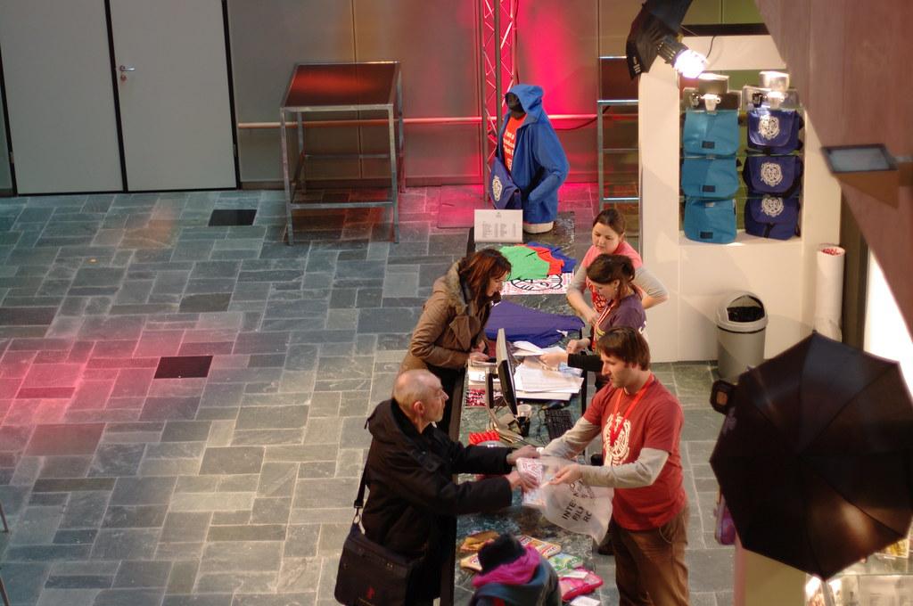 IFFR 2010: gift shop at De Doelen