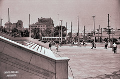 Summer 1974, the port of Piraeus, Greece (CHRISTOS PROUKAKIS) Tags: bw copyright photography all post rights processing only analogue 35 reserved ordinary christos yaschica gsnkodak proukakis