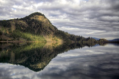 Drano Lake - HDR (David Gn Photography) Tags: trees sky mountain lake reflection water clouds landscape washington scenic columbiagorge hdr highway14 bonnevilledam dranolake platinumheartaward canoneos7d sigma1020mmf35exdchsm platinumpeaceaward