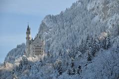 Neuschwanstein (SG0lsen) Tags: winter germany deutschland bavaria nikon february 2010 d90 romanticroad romantischestrasse