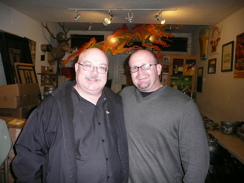 Dave Keene & Tomme Arthur after a night of Washoes