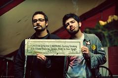 Quitting Smoking is... (veronikaa) Tags: two portrait men warning 50mm pub nikon florida miami f14 cigarette smoke band churchills guys smoking fl quitting nikkor gian quit fumar generals jota surgeon cigarrillo d5000 radioboxer