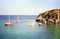 930528 Mediterranean Mooring, Dictyna Bay, Crete (rona.h) Tags: may 1993 greece crete cacique burraisle ronah elsiarrub capespade dictynabay
