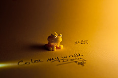 Color My World Daily (aelores) Tags: yellow jaune toy toys plastic amarillo spielzeug jouet kindersurprise juguete    asfar