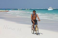 Beach boy - Riviera Maya (Nino H) Tags: sea mer sexy guy beach beautiful bike sport azul méxico mexico mar model paradise view sable playa topless belle mexique caribbean rivieramaya plage paraiso paradis vélo vie caribe caraïbes
