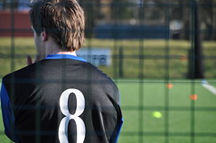 Depth of field, quite literally (S-PostingsPhotography) Tags: field fence football focus shot bright finger biting nails pitch behind depth cones selective illuminous