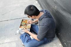 Enjoying NOMs at LA Street Food Fest