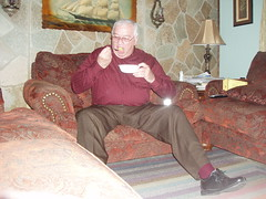 Poppa 008 (staggerlee1) Tags: people sitting grandfather grandpa sit granddad granddaddy seated poppa 2010