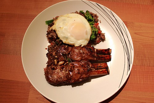 Valentine's Day 2010 Dinner: Roasted Lamb with Gallo Pinto