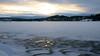 Lake Östersund - evening light / Meer van Östersund - avondlicht (Frandalf) Tags: lake snow ice dawn frozen meer bevroren sweden schweden avondlicht eveninglight zweden östersund ijsvlakte lakeöstersund meervanöstersund