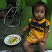 Little Balinese Girl Eating Mie Goreng