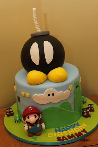 Mario bomb cake