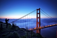 dedicated (louie imaging) Tags: sf life county city morning bridge blue light cloud dedication fog sunrise work dawn golden bay gate san francisco photographer dynamic marin steve under foggy daily area mysterious headlands dedicated fogscape maxxsmart fogsedge