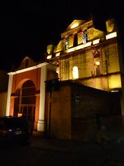 Walking around San Cristobal at night.