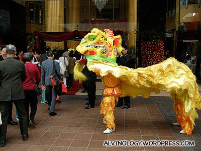 Lion dance welcome