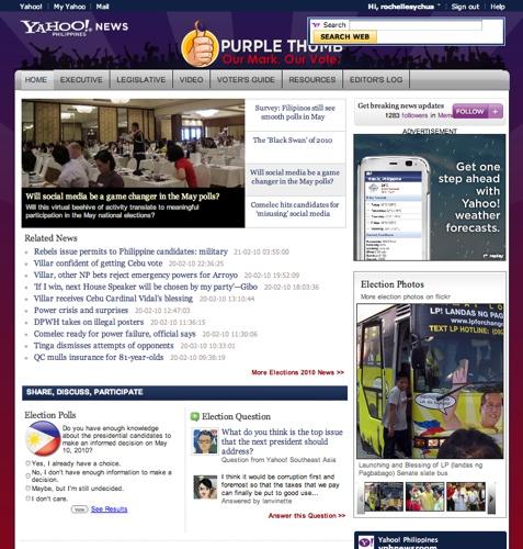 yahoo purple thumb site