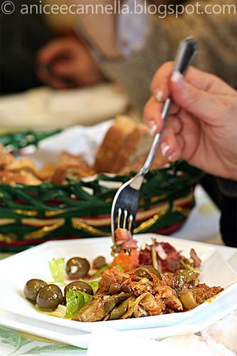 caponata di carciofi siciliana