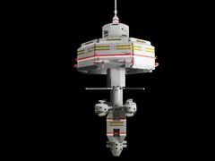 Space Station M31-P5 (Ludgonious) Tags: city scale station liu ship space micro microscale microspacetopia m31p5
