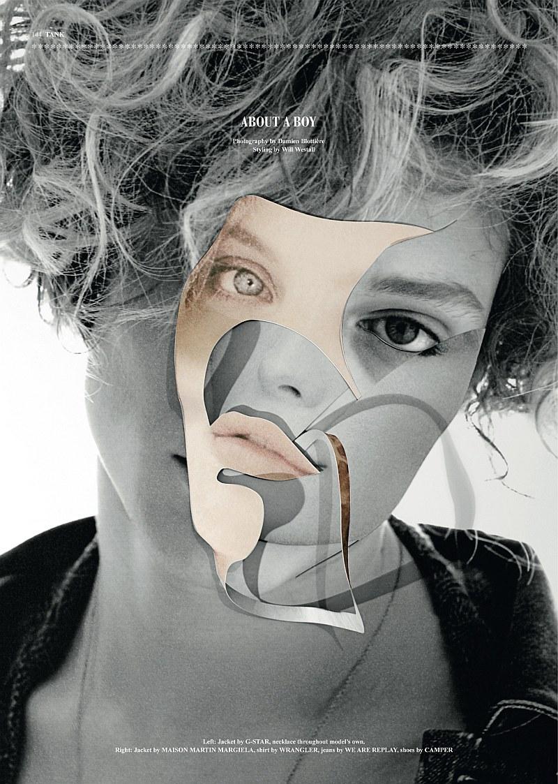 Chris Rayner by Damien Blottière in Tank magazine