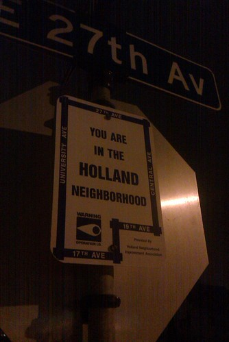 Holland Neighborhood Sign
