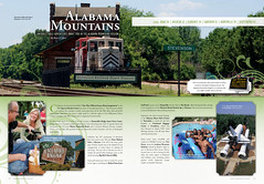 2010 Alabama Vacation Guide-mountains spread (sharee faircloth | creative) Tags: graphicdesign publishing artdirection magazinelayouts