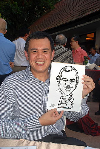 Caricature live sketching for Parkway Health - 2