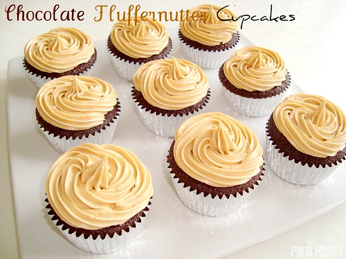 Chocolate - Fluffernutter Cupcakes