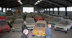Dealer (uk_senator) Tags: classic abandoned car austin cherry denmark fiat mini supermarket 127 600 morris peugeot 104 datsun 126 dealer 133 131 128 bl 100a fiorino uksenator