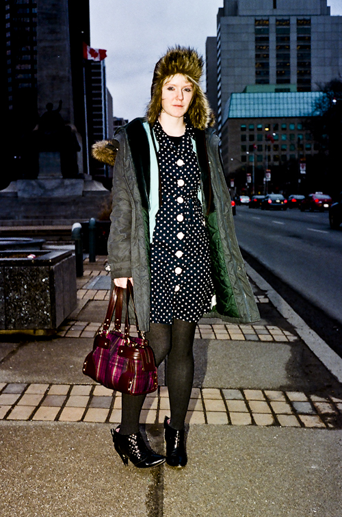 Polka Dot, Toronto Street Fashion @ University Ave., Toronto