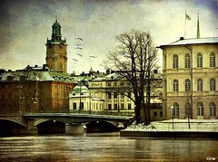 Gamla Stan (Milla's Place) Tags: texture church photoshop sweden stockholm palace gamlastan oldtown textured storkyrkan strmsborg mywinners specialtouch memoriesbook bondeskapalatset skeletalmess magicunicornverybest magiayfotografia thelittlebookoftreasures