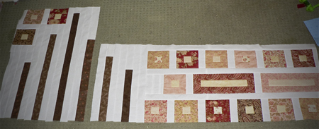 first section done piecing quilt