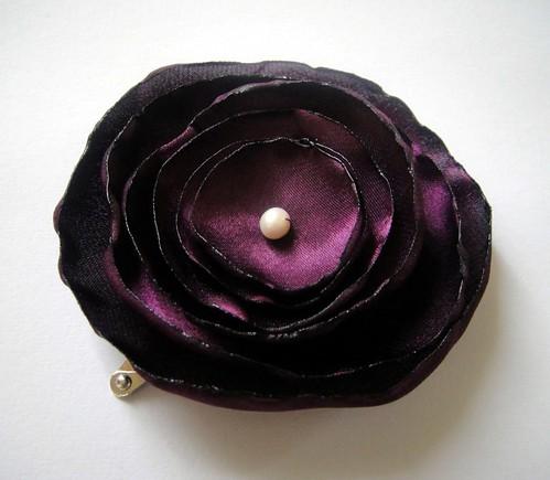 dark raspberry rose blossom wedding flower snap clip