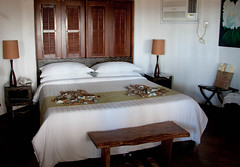 Our Daluyon Bungalow (Carrie Kellenberger I globetrotterI) Tags: ocean islands sand beds philippines hotels sabang puertoprincesa palawan puertoprincessa beachbungalows daluyonbeachandmountainresort