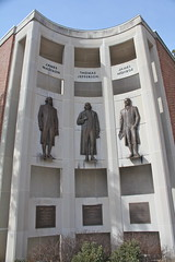The fathers of the Charlottesville Area (drothamel) Tags: city virginia hall downtown president madison va monroe jefferson charlottesville