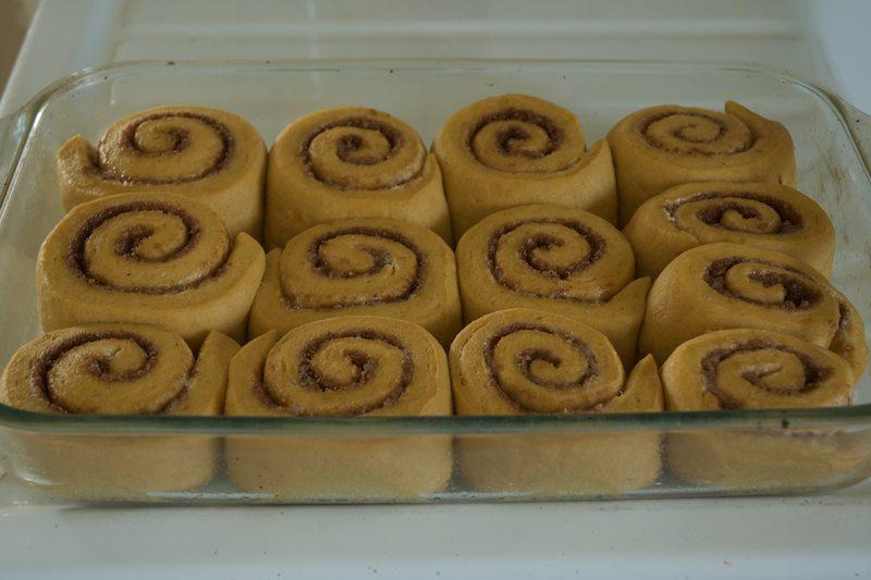 persimmon cinnamon rolls unbaked