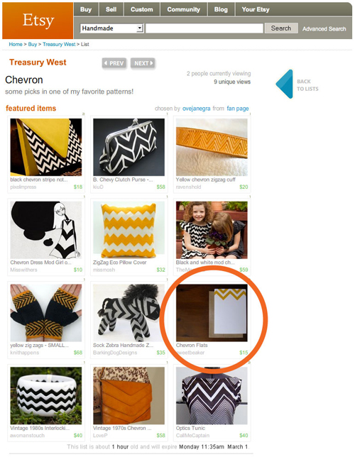 Etsy Treasury By Oveja Negra