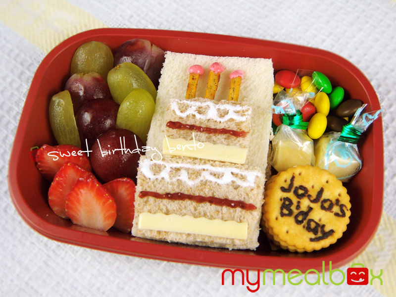 Sweet birthday bento